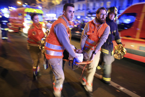 Terrorists shot numerous people and took others hostage at The Bataclan concert hall.