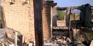 Asi quedaron las casas de los campesinos del ejido Gabino Vázquez tras la incursión de un grupo de sicarios