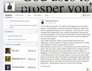 Perfil de Facebook de Sinéad O'Connor